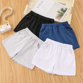 Toddler Girl/Boy Elasticized Casual Solid Shorts with Pocket