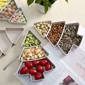 Christmas Tree Dried Fruit Plate Snack Plate Household Fruit Tray Melon Seeds Dried Fruit Tray
