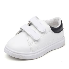 Toddler Black and White Two Tone Velcro Closure Sports Shoes