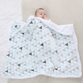 Double Layer Fuzzy Flannel Nap Blanket, Soft Warm Kids Blanket for Toddler Bed, Daycare Preschool