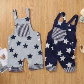 Toddler Boy Stars Print Casual Overalls