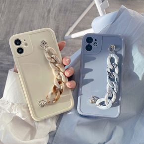 Suitable for New Bracelet Apple 12 Mobile Phone Case Chain Solid Color Fashion Max High end Iphone12