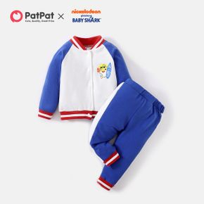 Baby Shark 2-piece Cotton front Buttons Jacket and Pants Set