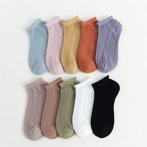 Women Ruffle Frilly Ankle Socks Low Cut Cotton Casual Dress Socks Cool Comfort 5 Pairs