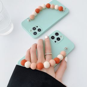 Simple Colored Bead Wrist Strap 11/12Pro/Max/mini for Apple X/XS/XR Mobile Phone Case