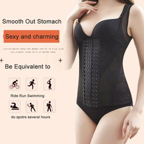 Six-Breasted Body Corset For Women Ladies Lace Stitching Corsets Belly Reduction Chest Support Shaperwear
