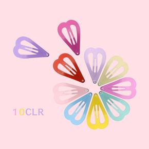 10-pack Multicolor BB Clip Snap Hair Clip for Girls