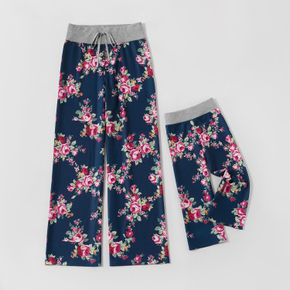 Floral Print Pattern Pants for Mom and Me