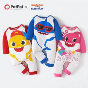 Baby Shark Big Graphic Cotton Jumpsuit for Baby
