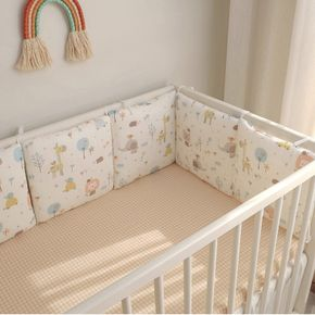 Newborn Baby Bed Guardrail Bed Fence Baby Anti-collision Printing Pattern Removable And Washable Baby Bed Safety Rails