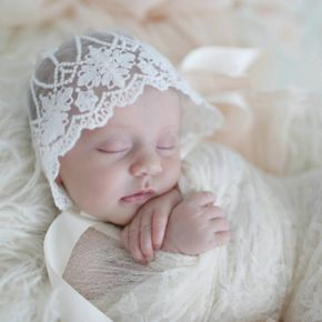 Baby Hat Newborn Photography Props with Lace Trimmed
