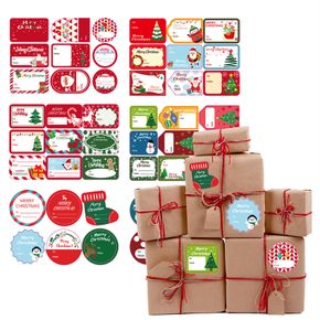 Christmas Gift Tags Self Adhesive Christmas Gift Tag Stickers Holiday Decorative Presents Labels Decals Name Labels