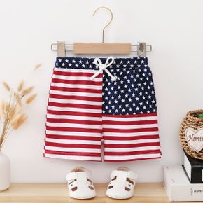 Toddler Boy Flag Print Shorts of Independence Day