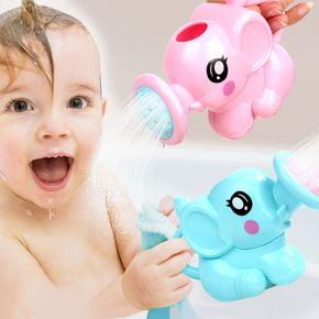 Baby Shampoo Cup Multipose ABS Plastic 1Pcs Cartoon Baby Elephant Infant Shower Supplies Pink/Blue Baby Cartoon Shower Cup