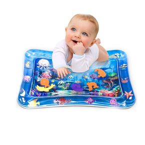 Tummy Time Baby Water Play Mat Inflatable Toy Mat for Infant Toddlers Activity Center for Newborn Boy Girl