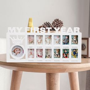 My First Year Frame Baby Picture Keepsake Frame for Photo Memories for Newborn Gifts