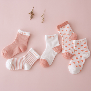 5-pack Baby / Toddler Cozy Breathable Cotton Socks