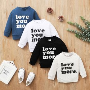 Letter Print Long-sleeve Baby Pullover