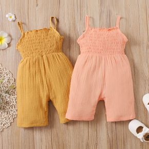 Toddler Girl Ruffled Solid Tank Jumpsuit