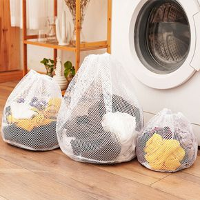 Mesh Laundry Bag with Drawstring, Bra Underwear Products Household Cleaning Tools Accessories Laundry Wash Care