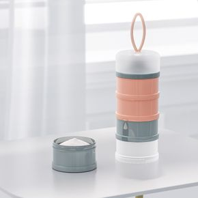 Formula Milk Powder Dispenser 4 Layer Portable Non-spill Stackable Baby Feeding Travel Storage Container for Travel and Outdoor Activities