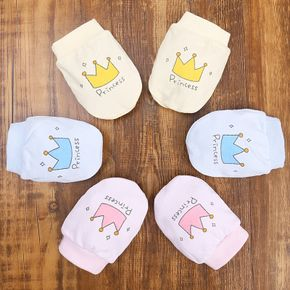 1-pack Baby Crown Anti-scratch Gloves