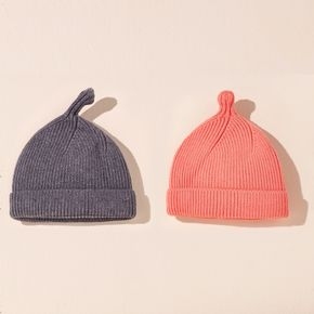 Baby Solid Color Cuffed Rib Knit Hat