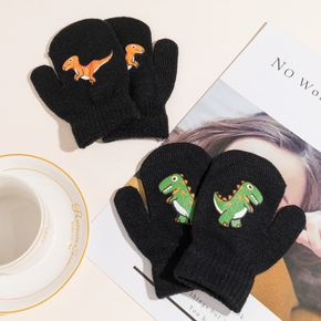 Baby / Toddler Dinosaur Graphic Winter Warm Thick Knitted Gloves Mittens