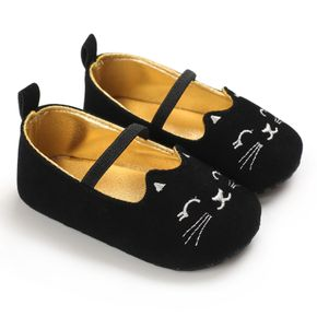 Baby / Toddler Solid Adorable Cat Embroidered First Walkers