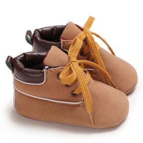 Baby / Toddler Brown Lace-up Soft Sole Prewalker Shoes