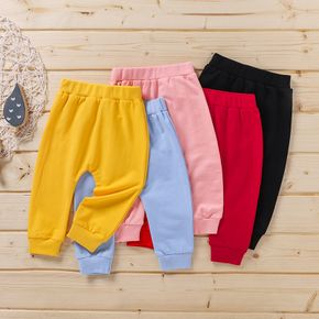 Solid Baby Casual Pants Harem Pants