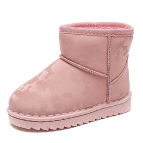 Toddler / Kid Solid Color Print Fleece-lining Boots