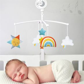 Cartoon Baby Crib Mobiles Rattles Music Educational Toys Bed Bell Carousel for Cots Infant Baby Toys