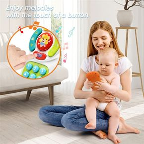 Musical TV Remote Control Toy with Light and Sound Early Education Learning Remote Toy