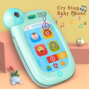 Mobile Phone Toy Early Education Story Machine Infants Baby Soothing Crying Toys