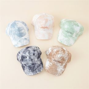 Stylish Women Tie Dye Cap Letter Embroidered Baseball Cap Female Casual Adjustable Street Outdoor Hat