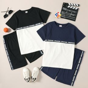 Trendy Kid Boy Letter Print Casual Suits