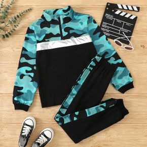 Kid Boy Trendy Camouflage Top and Pants Set