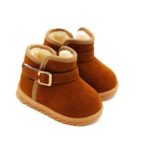 Toddler / Kid Solid Color Velcro Closure Fleece-lining Boots