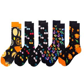 Women Colorful Fruit Pattern Comfortable and Breathable Tube Socks