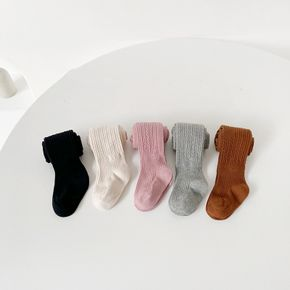 Baby / Toddler / Kid Solid Color Cable Knit Pantyhose Leggings