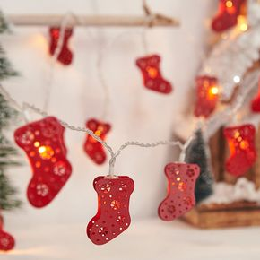 Christmas LED Socks Gloves Lights String Christmas Tree Hanging Lights Ball Ornament Holiday Party Decoration