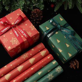 Christmas Wrapping Paper Roll Christmas Wrapping Kraft Paper Candy Cane Christmas Party Supplies
