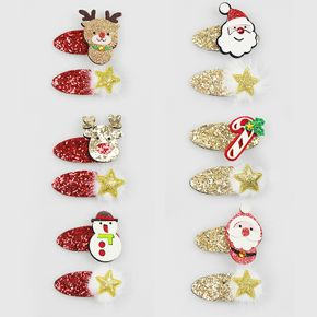 2-pack Women Christmas Hair Clip Christmas Sequined Decor Hair Clip Hair Accessories for Christmas Party Supplies
