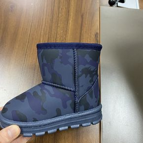 Toddler / Kid Blue Camouflage Print Boots