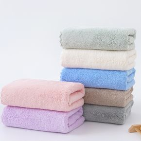 Solid Color High Absorbent Soft Towel Soft Coral Fleece Face  Washcloths (Multi Color Available)