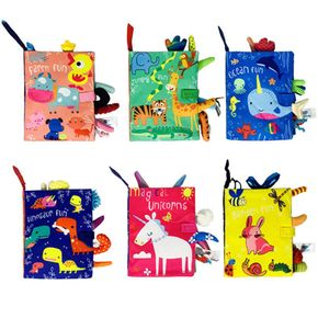 Soft Toys Baby Cloth Books, Touch and Feel Crinkle Books for Babies & Toddler, Early Development Interactive Toys
