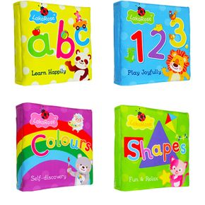 Cloth Baby Book English Alphanumeric Cloth book Touch and Feel Early Educational and Development Toy with Sound Paper