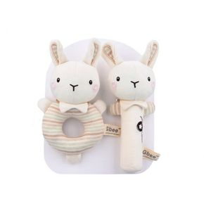 Baby Rattle Cotton Round Rattle Stick Baby Soothing Toy Baby Rattle Toy
