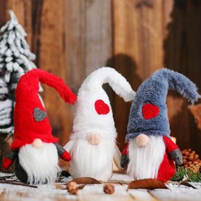 Christmas Decorations Long Beard Forest Man Doll Faceless Doll Rudolph Doll Ornament Christmas Tabletop Window Display Doll